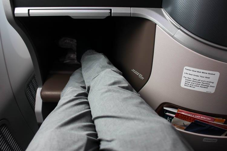 Singapore Airlines 787-10 Business Class Legroom