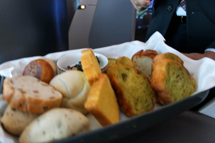 Singapore Airlines Business Class Bread