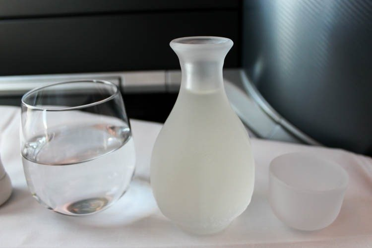 Singapore Airlines Business Class Sake