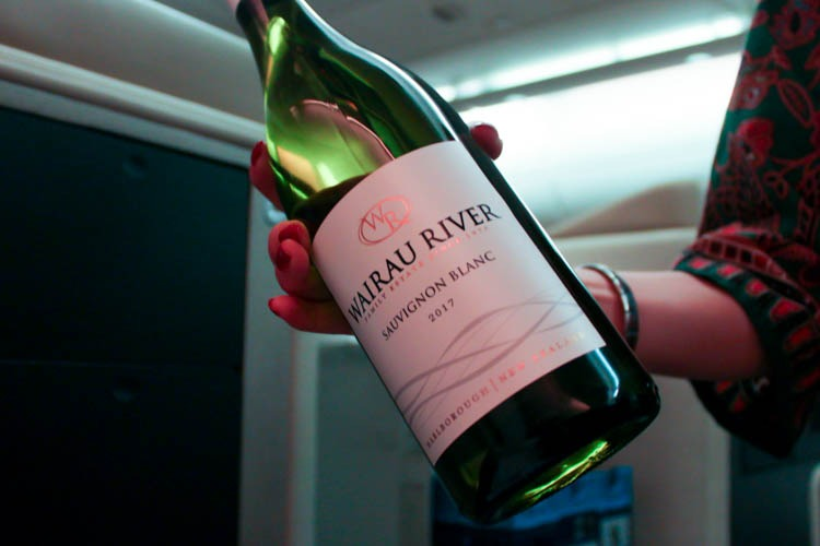 Singapore Airlines Business Class Wine