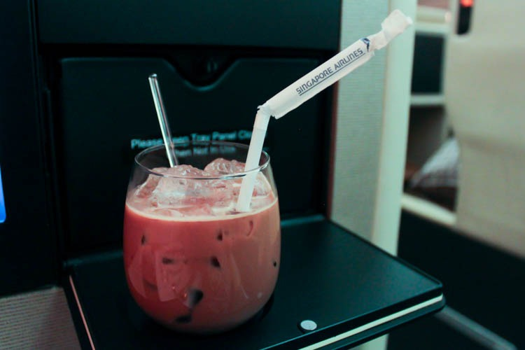Singapore Airlines Business Class Drink