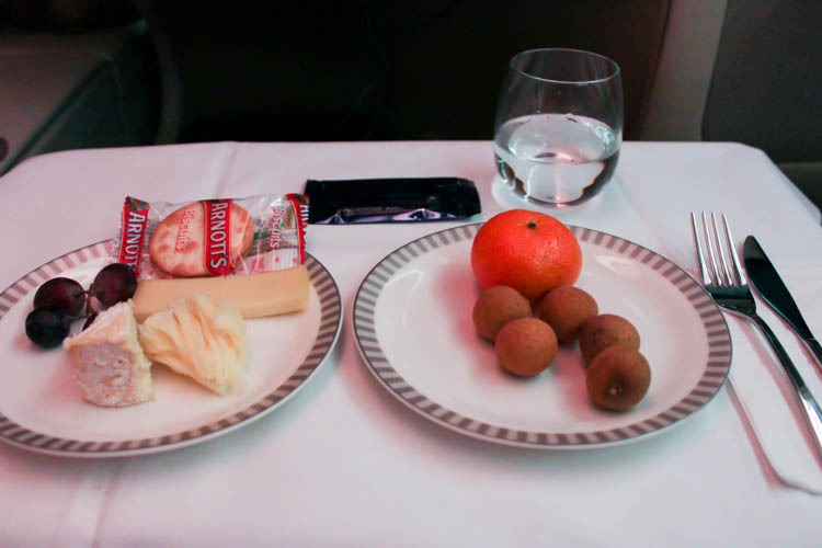 Singapore Airlines Business Class Dessert