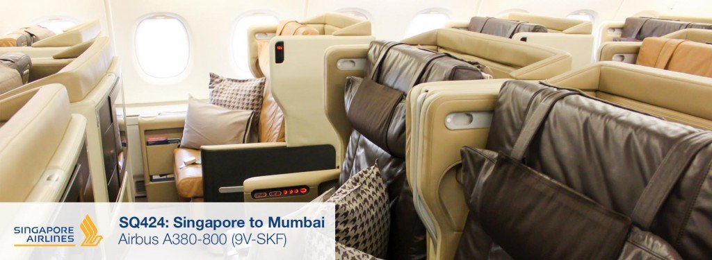 Review: Singapore Airlines A380 Old Business Class from Singapore to Mumbai