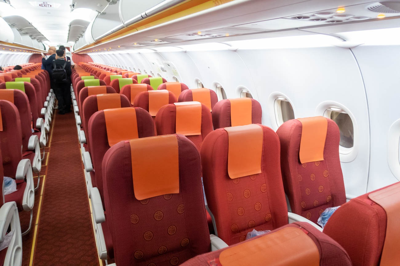 Hong Kong Airlines Airbus A320 Economy Class