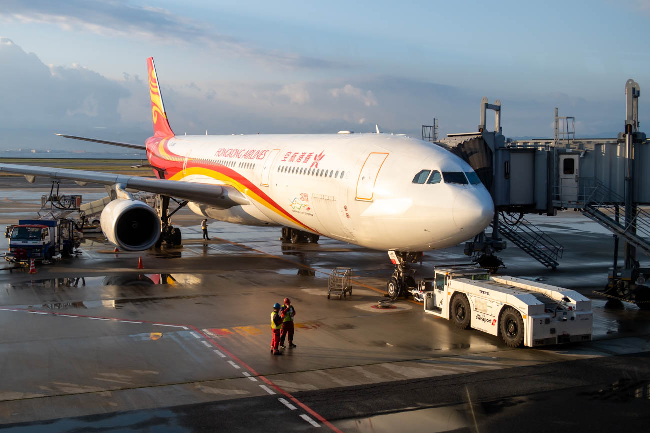 Hong Kong Airlines Airbus A330-300 at Osaka Kansai Airport
