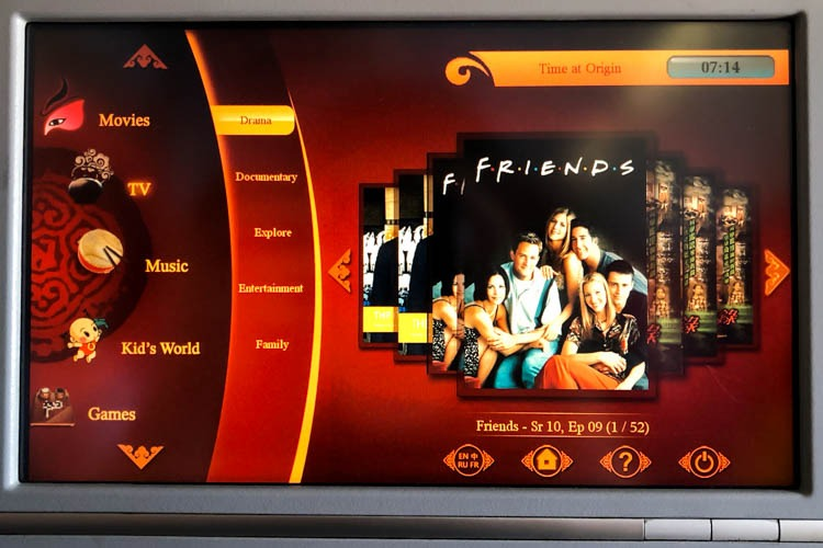 Hong Kong Airlines In-Flight Entertainment System TV Shows