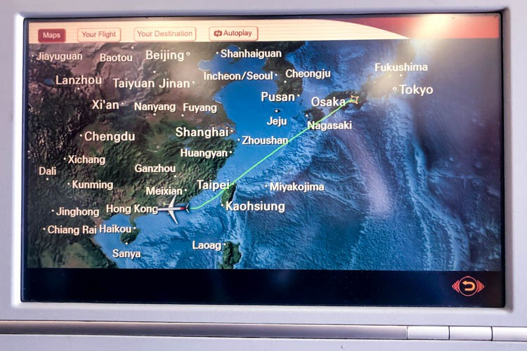 Hong Kong Airlines In-Flight Entertainment System Map