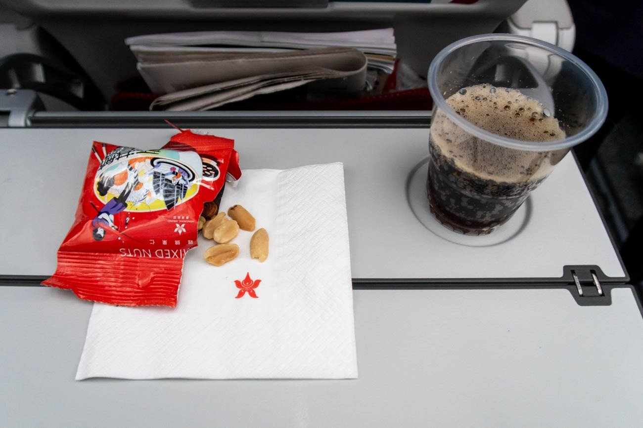Hong Kong Airlines Economy Class Snack and Drink