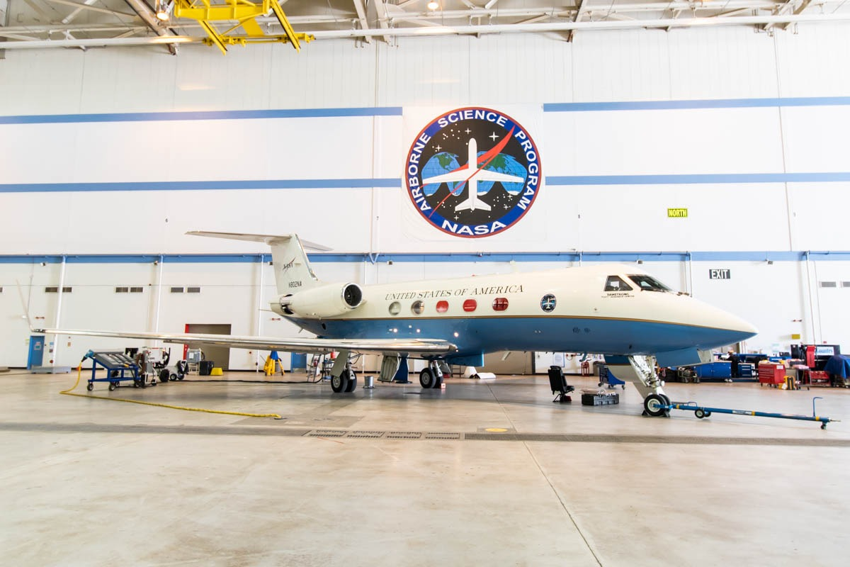NASA Armstrong Flight Research Center Building 703 Gulfstream C-20A (Gulfstream III)