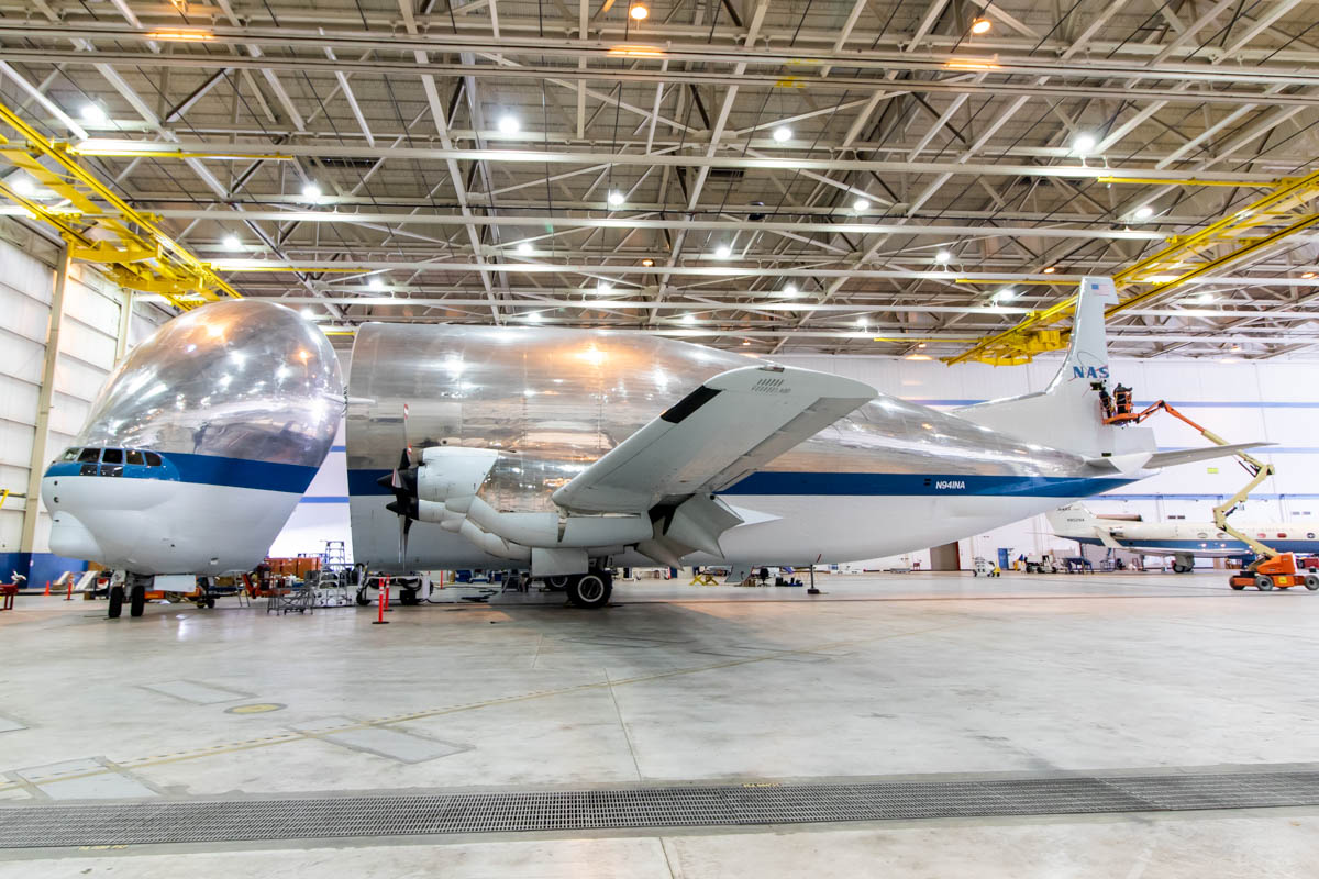 NASA Armstrong Flight Research Center Building 703 Super Guppy
