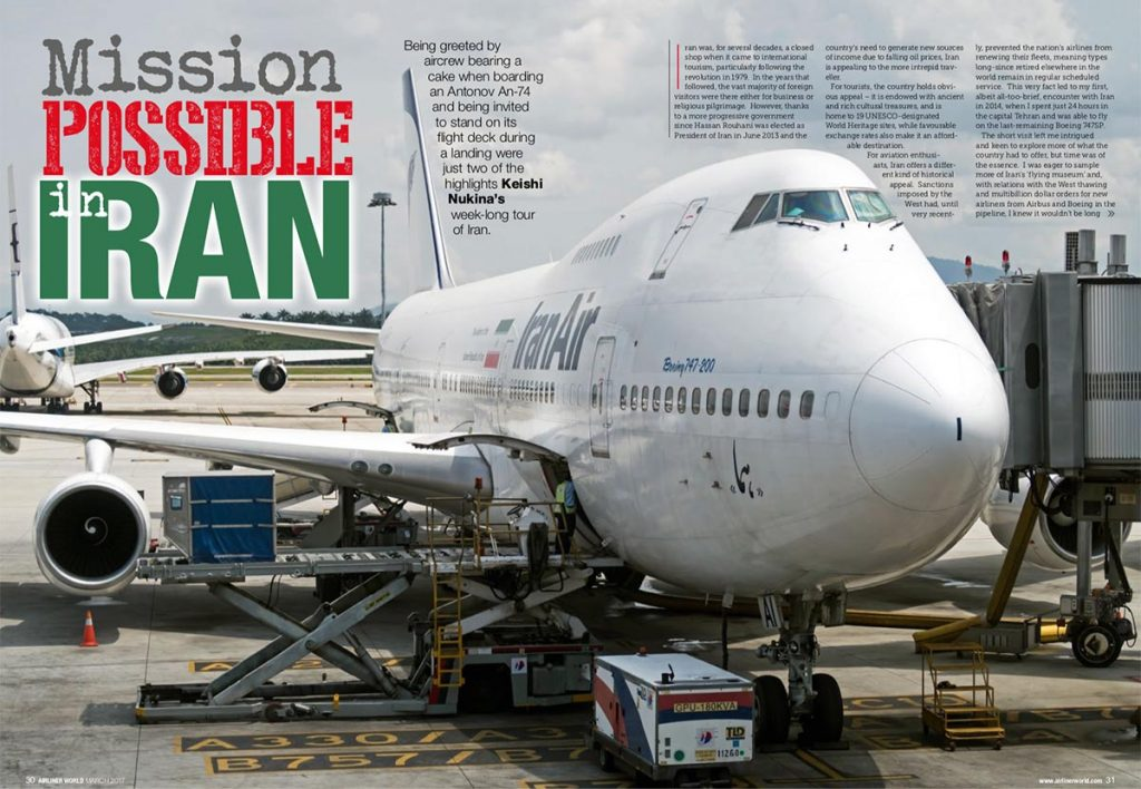 Airliner World - Mission Possible in Iran (Written by: Keishi Nukina)