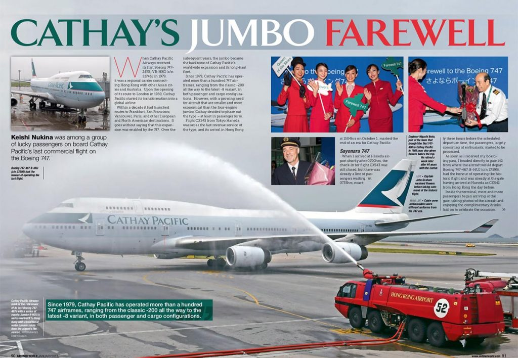 Airliner World: Cathay's Jumbo Farewell
