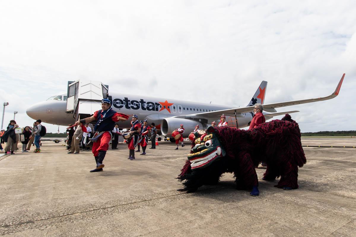 Jetstar Japan Airbus A320 Inaugural to Shimojishima