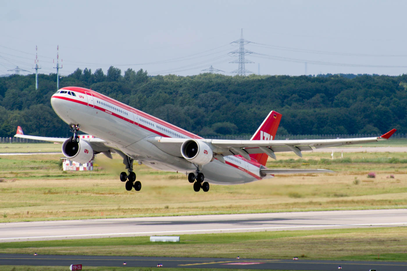 LTU Airbus A330-300 Departing Dusseldorf