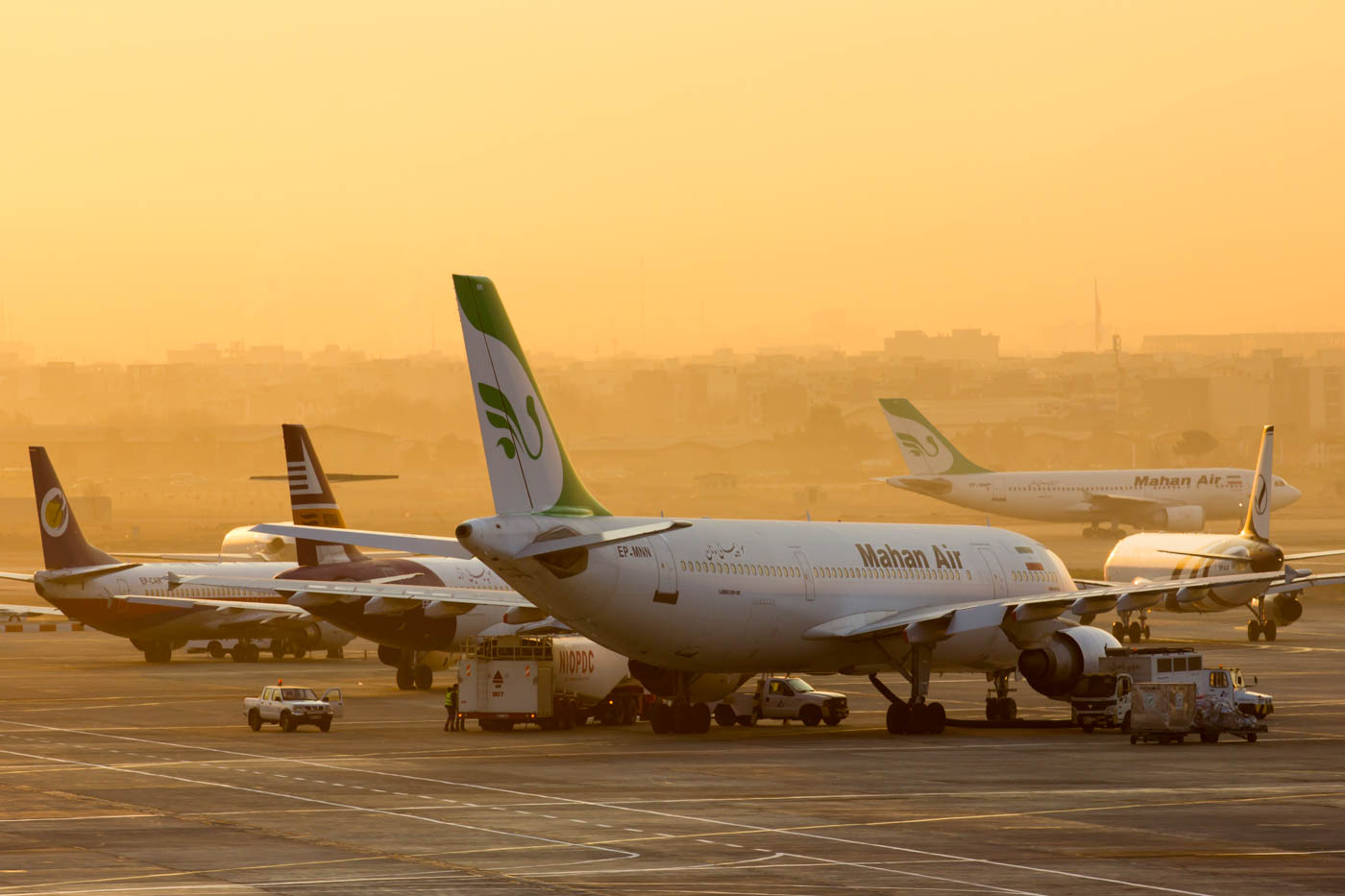 Mahan Air Airbus A310 at Tehran Mehrabad Airport