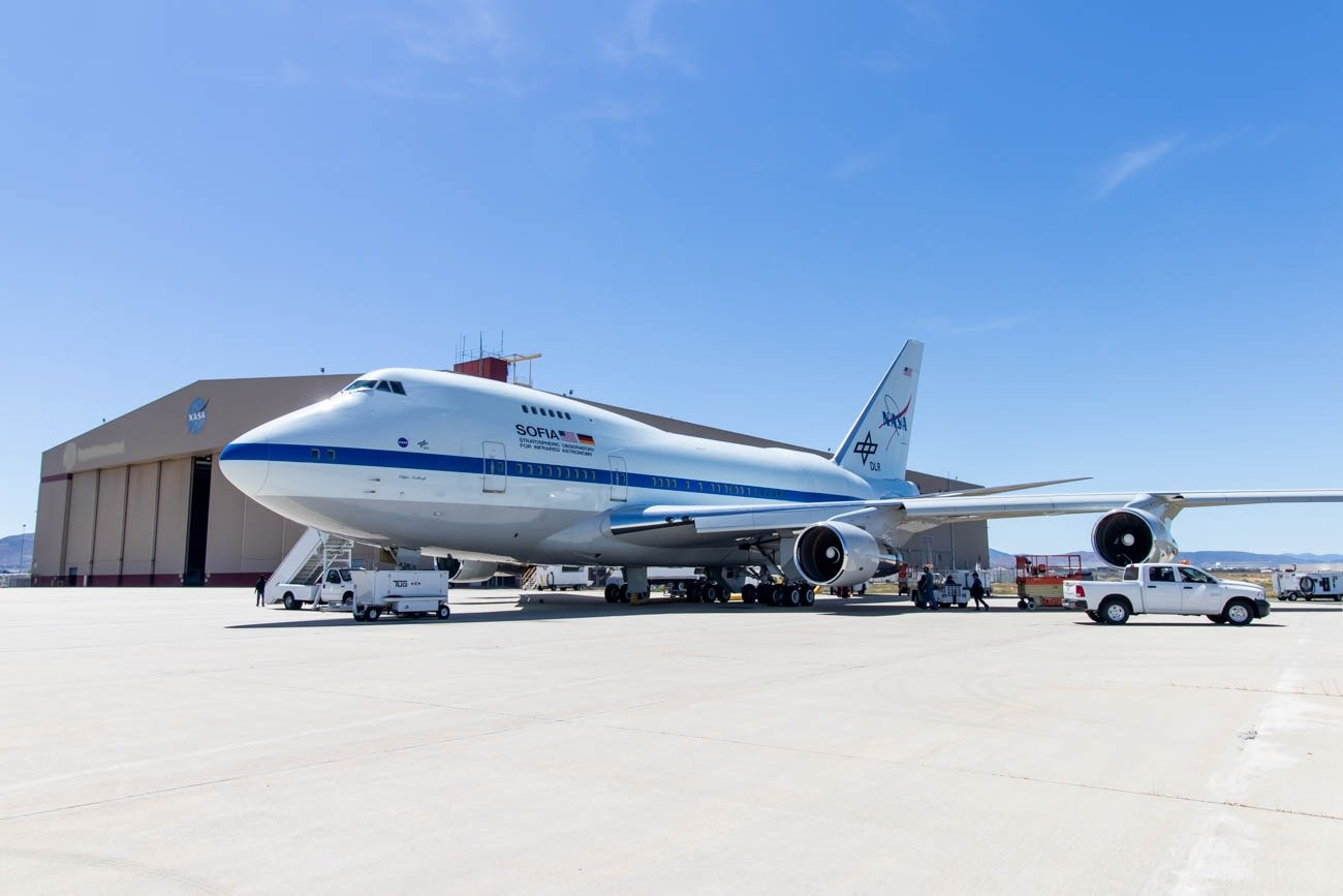 NASA SOFIA Boeing 747SP at Palmdale Airport
