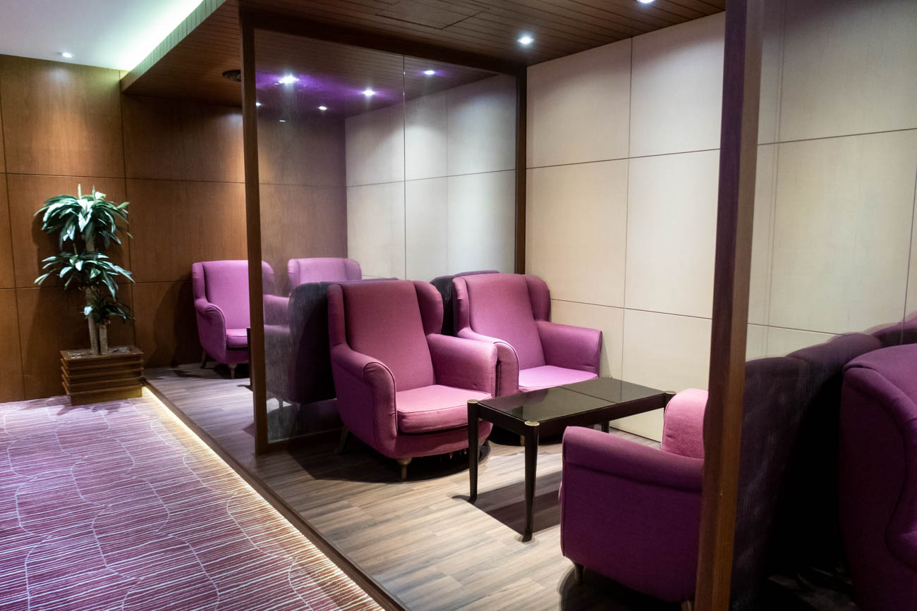 Royal Orchid Lounge Singapore Seating