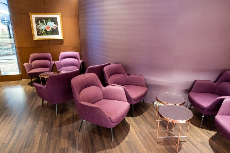 Thai Airways Royal Orchid Lounge Seating