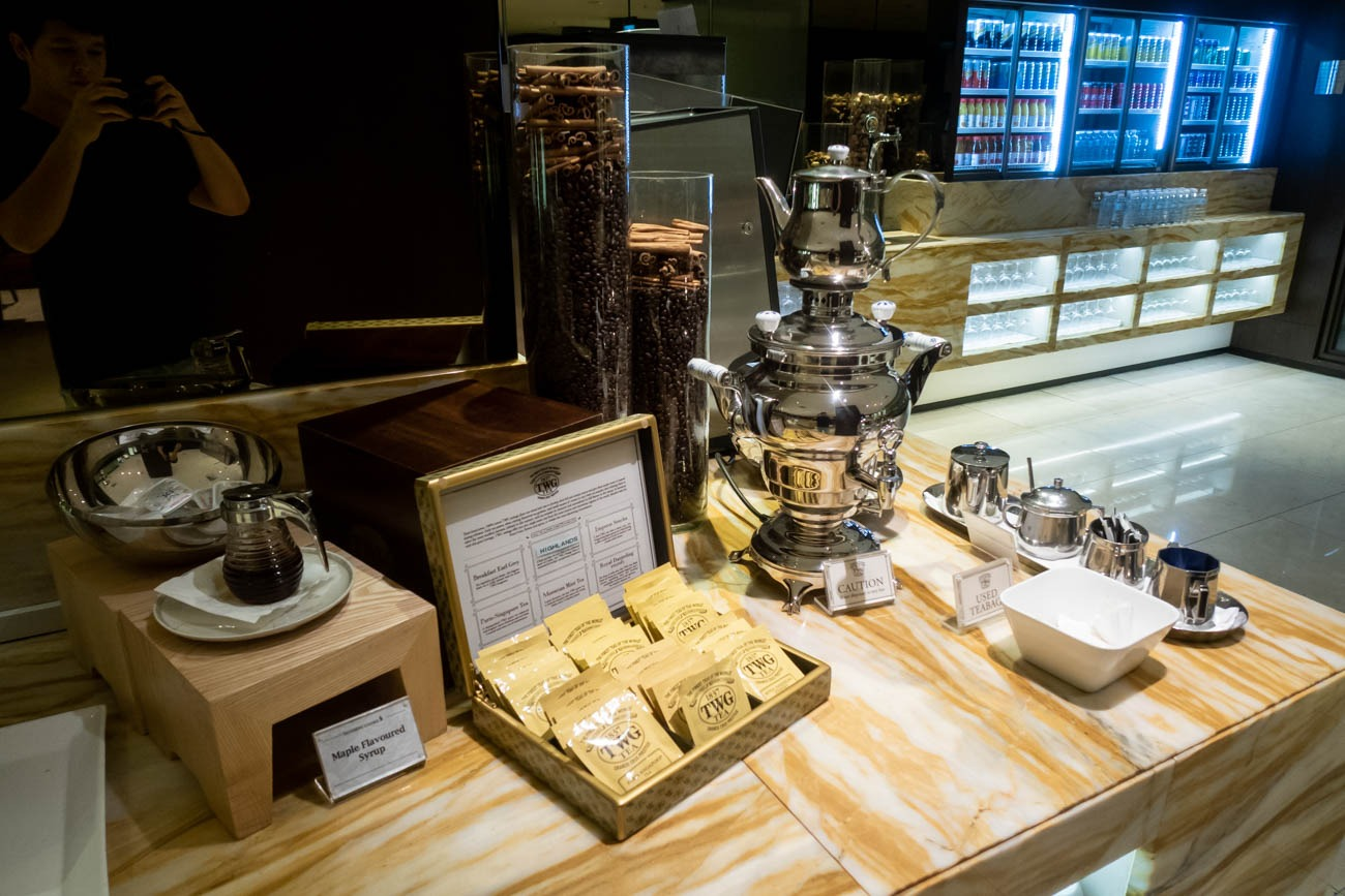 TWG Tea in Singapore Airlines Business Class Lounge at Changi Ai