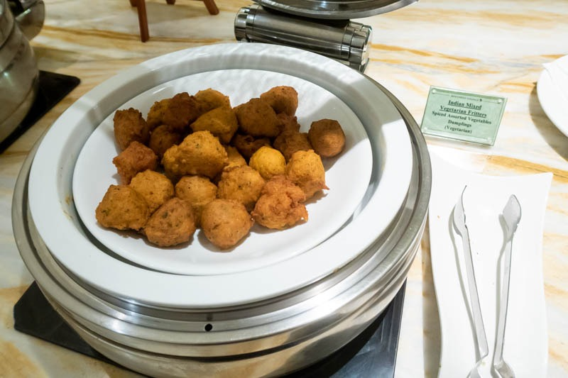 Indian Food in SilverKris Lounge at Changi Airport