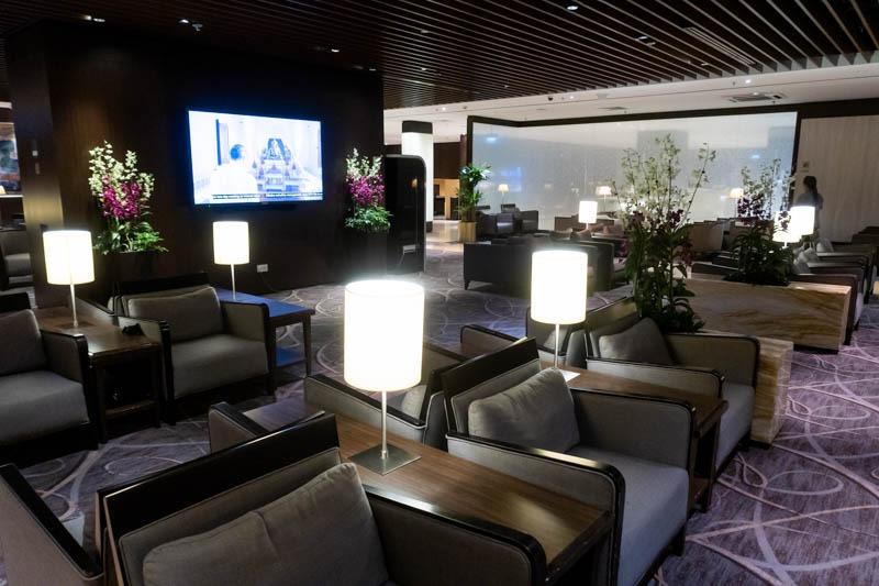 TV Area in SilverKris Business Class Lounge