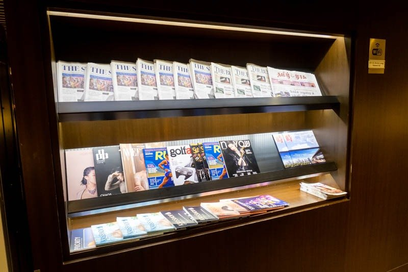 Newspapers and Magazines in Singapore Airlines Lounge