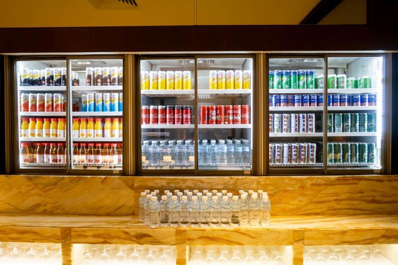 Soft Drinks in SilverKris Business Class Lounge