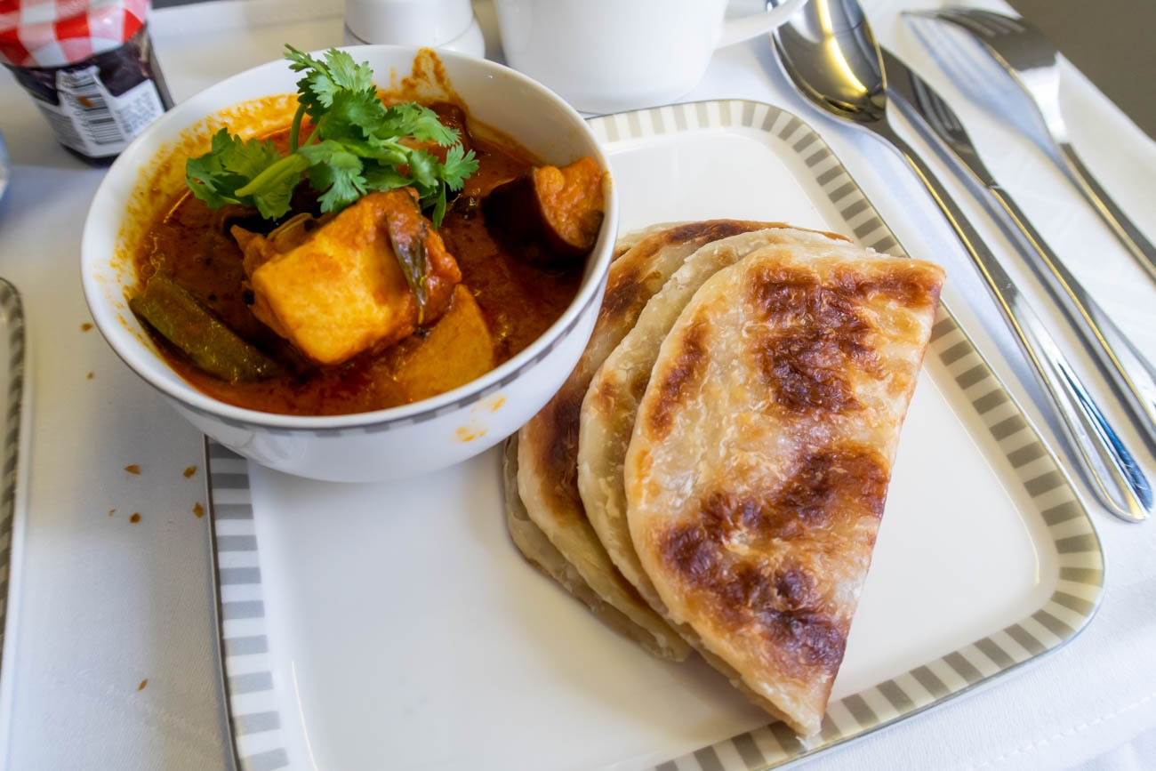 Singapore Airlines Business Class Roti Prata
