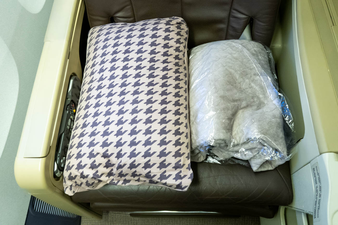 Singapore Airlines Business Class Pillow and Blanket