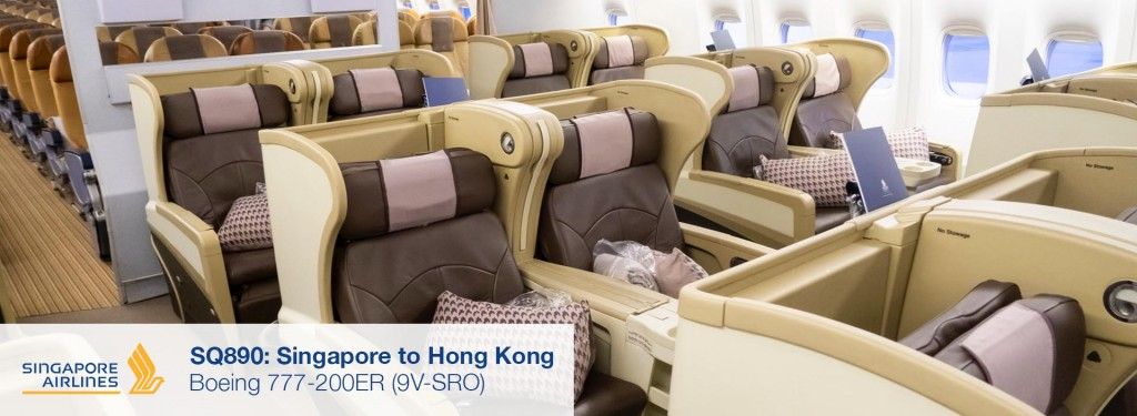 Review: Singapore Airlines 777-200ER Business Class from Singapore to Hong Kong
