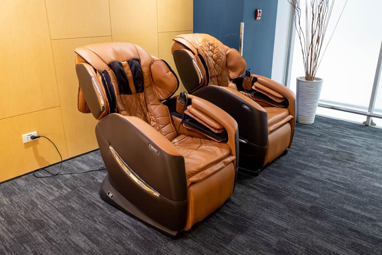 Air France-KLM Lounge Bangkok Massage Chairs