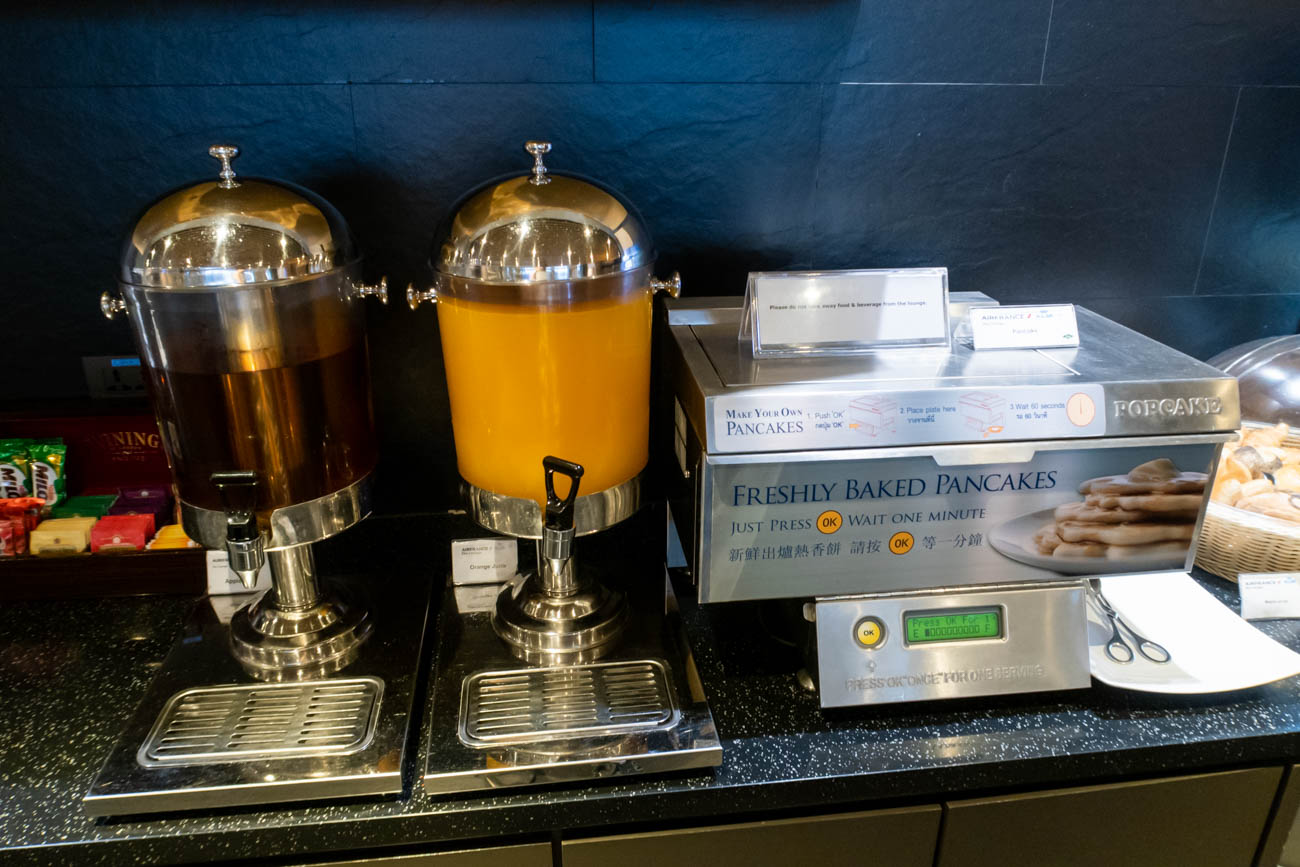 Air France-KLM Lounge Bangkok Pancakes