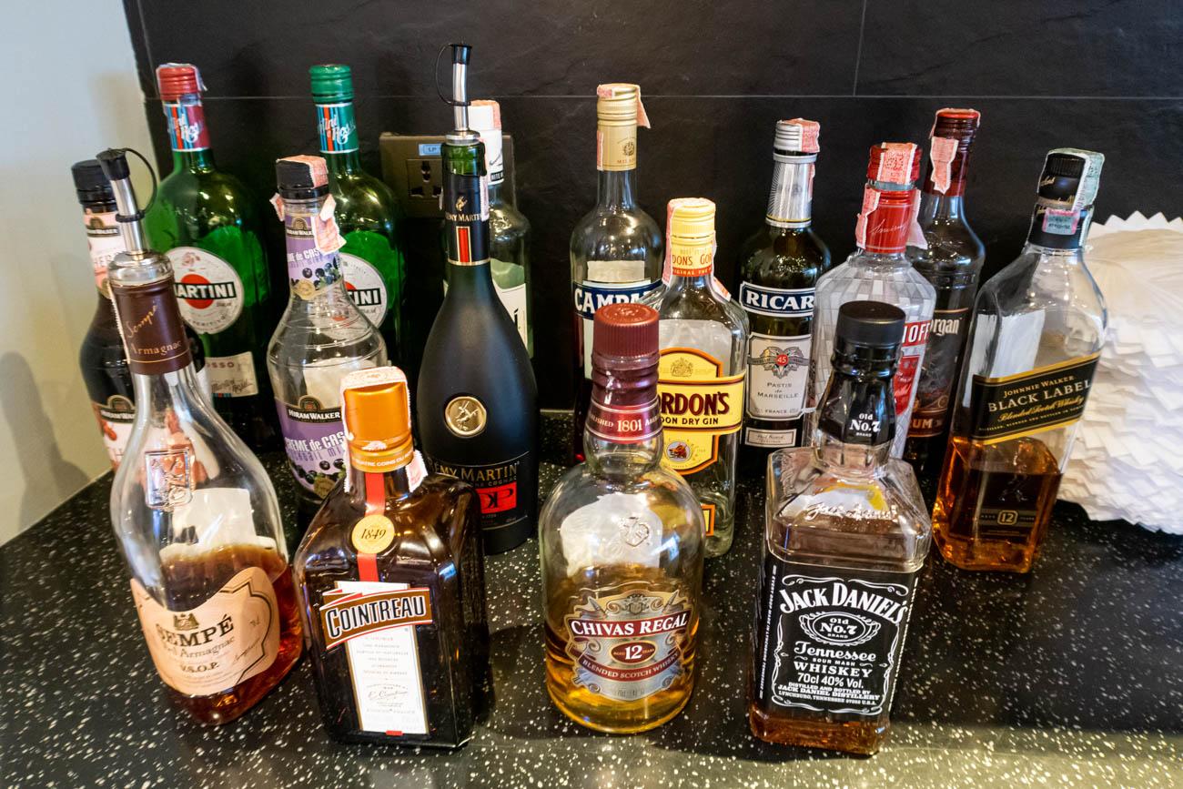 Air France-KLM Lounge Bangkok Liquor