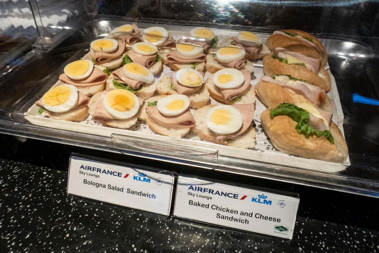 Air France-KLM Lounge Bangkok Sandwiches