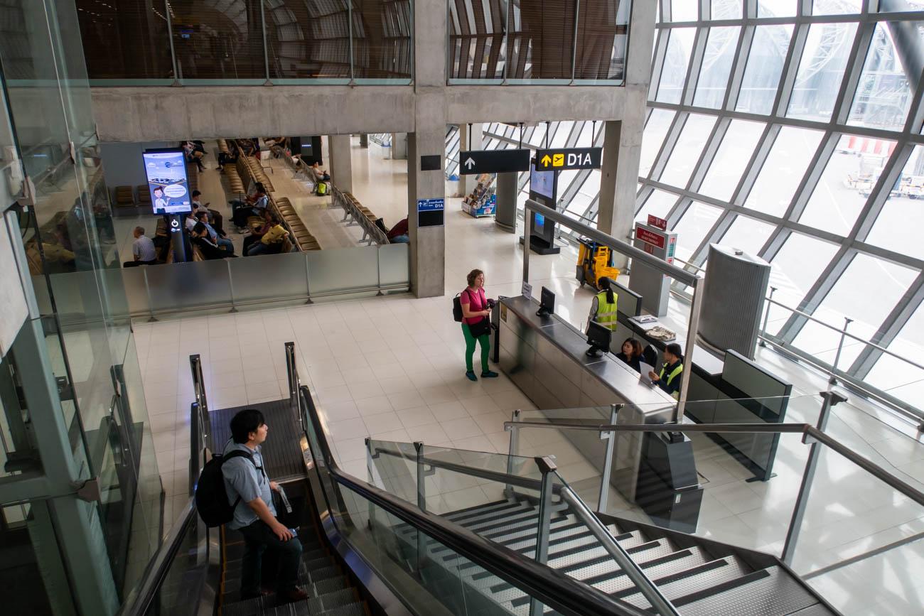 Bangkok Suvarnabhumi Airport Gate D1A