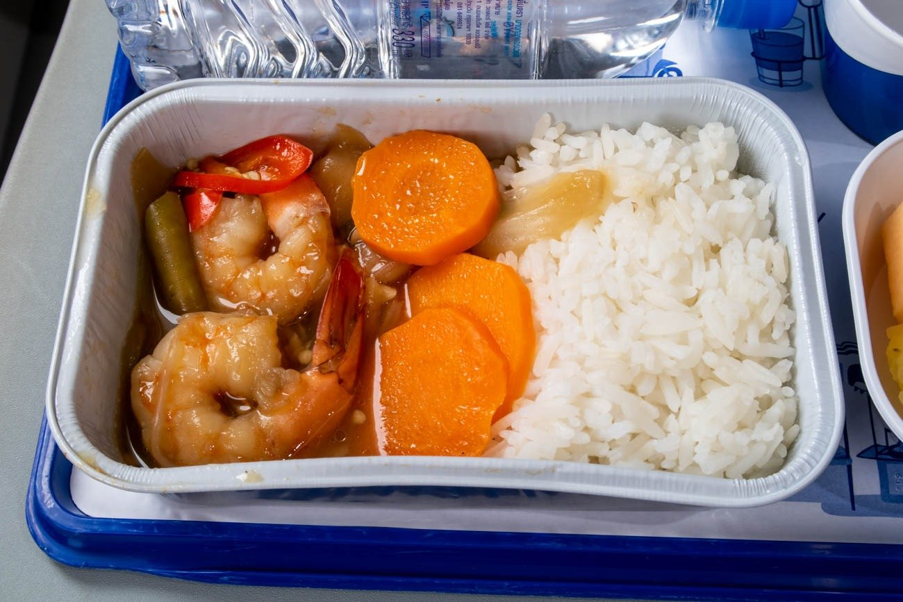 Bangkok Airways Hot Meal