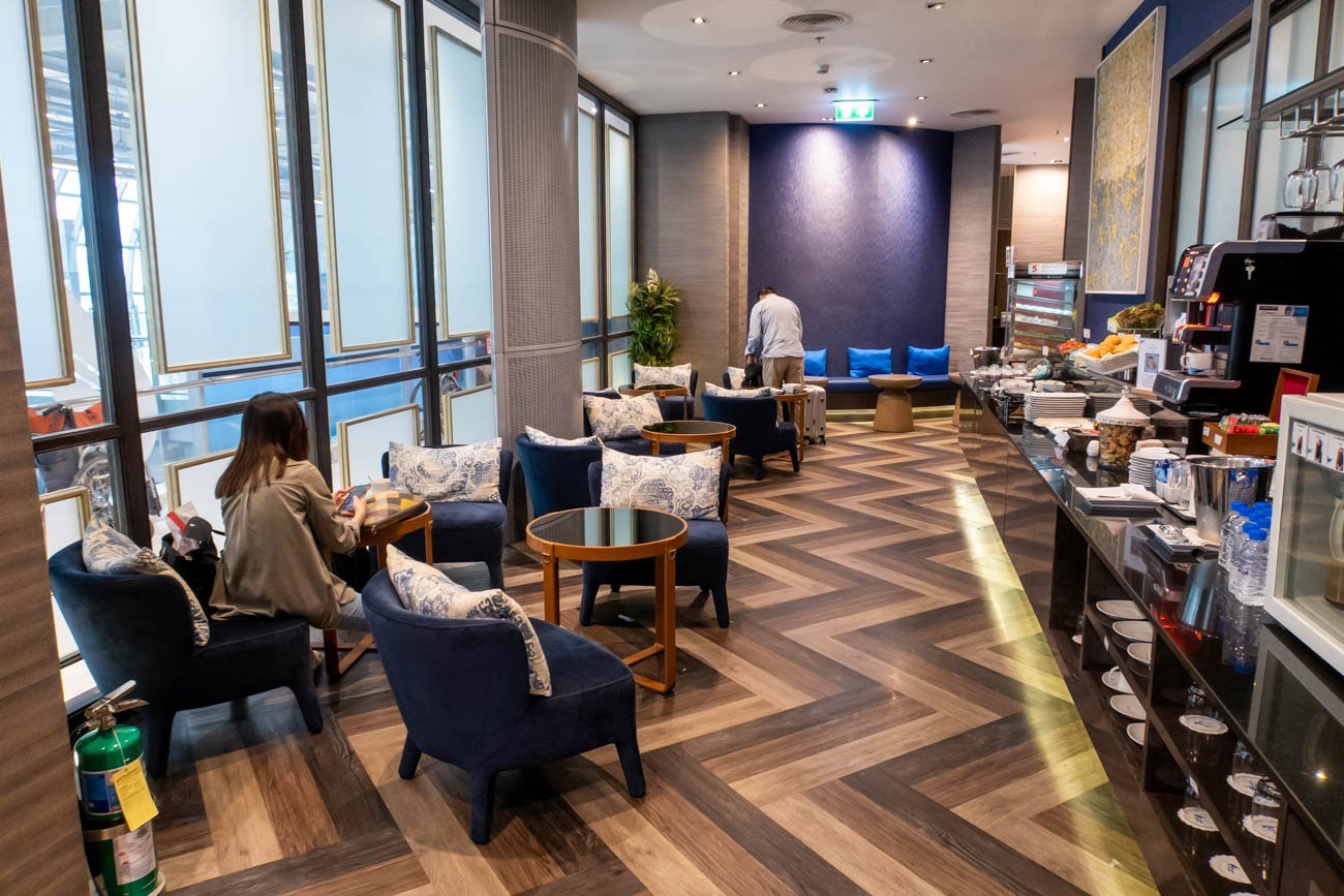 Bangkok Airways Blue Ribbon Club Lounge Dining