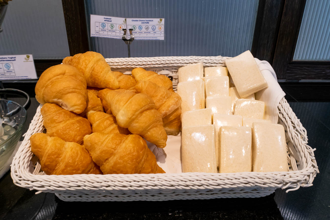 Bangkok Airways Blue Ribbon Club Lounge Breakfast