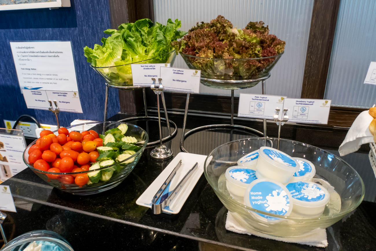 Bangkok Airways Blue Ribbon Club Lounge Salads