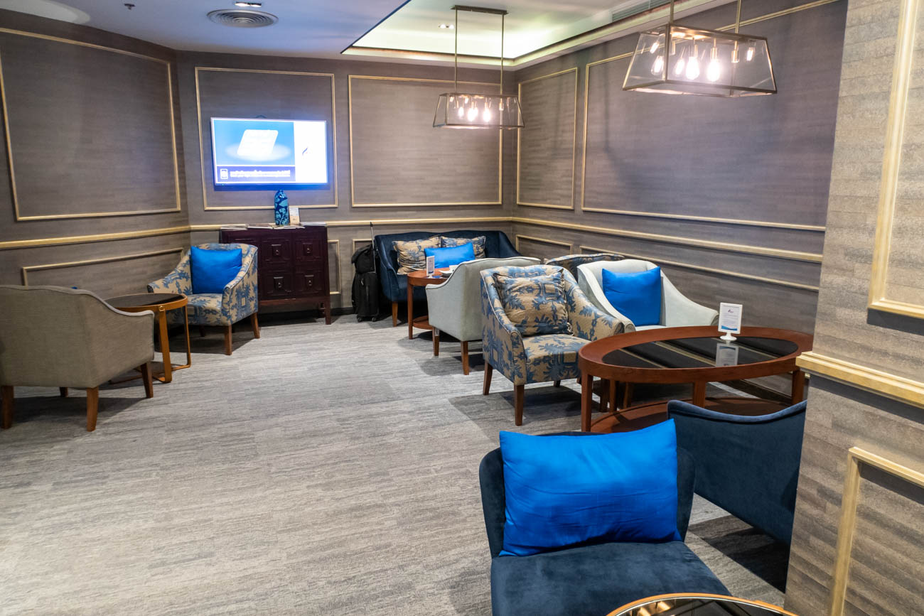 Bangkok Airways Blue Ribbon Club Lounge Seating