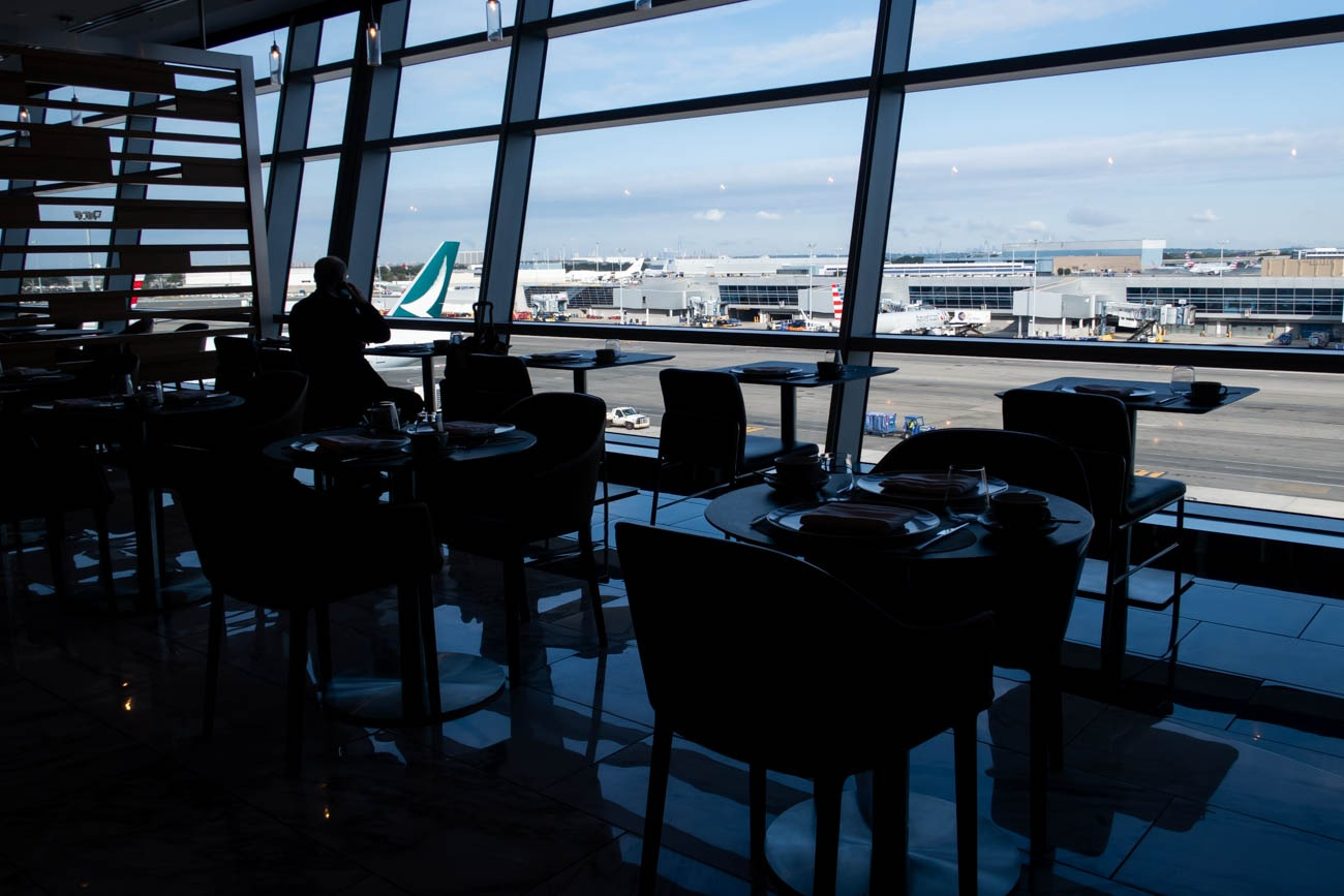 American Airlines Flagship First Dining at JFK Apron Views