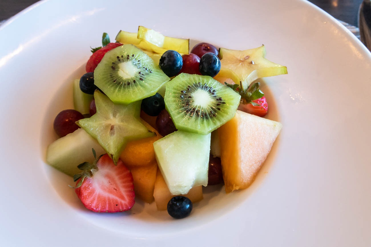 American Airlines Flagship First Dining at JFK Fruits