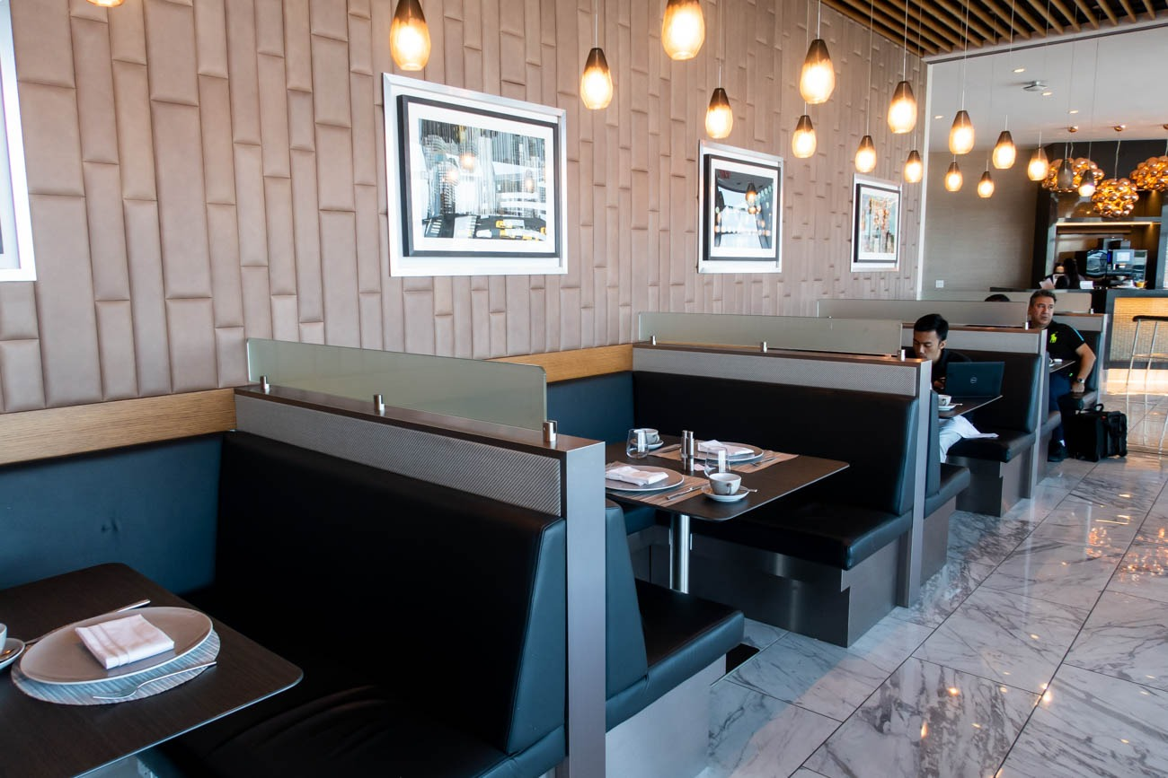 American Airlines Flagship First Dining at JFK Seating
