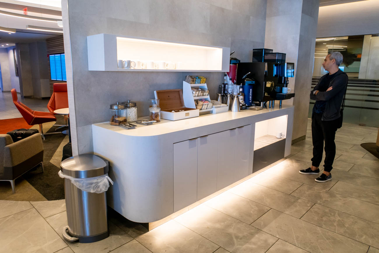 Tea and Coffee in American Airlines Flagship Lounge at JFK