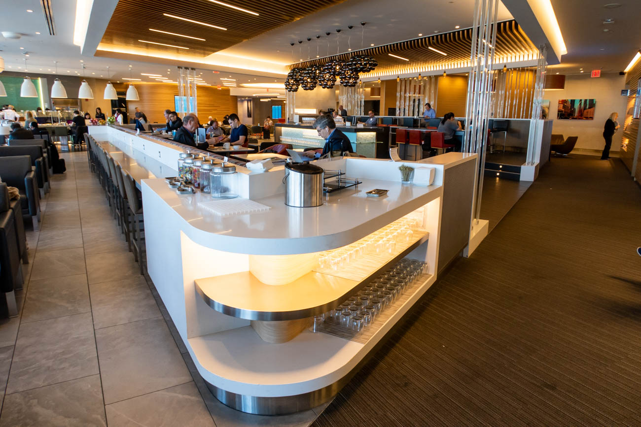 Liquor in American Airlines Flagship Lounge at JFK
