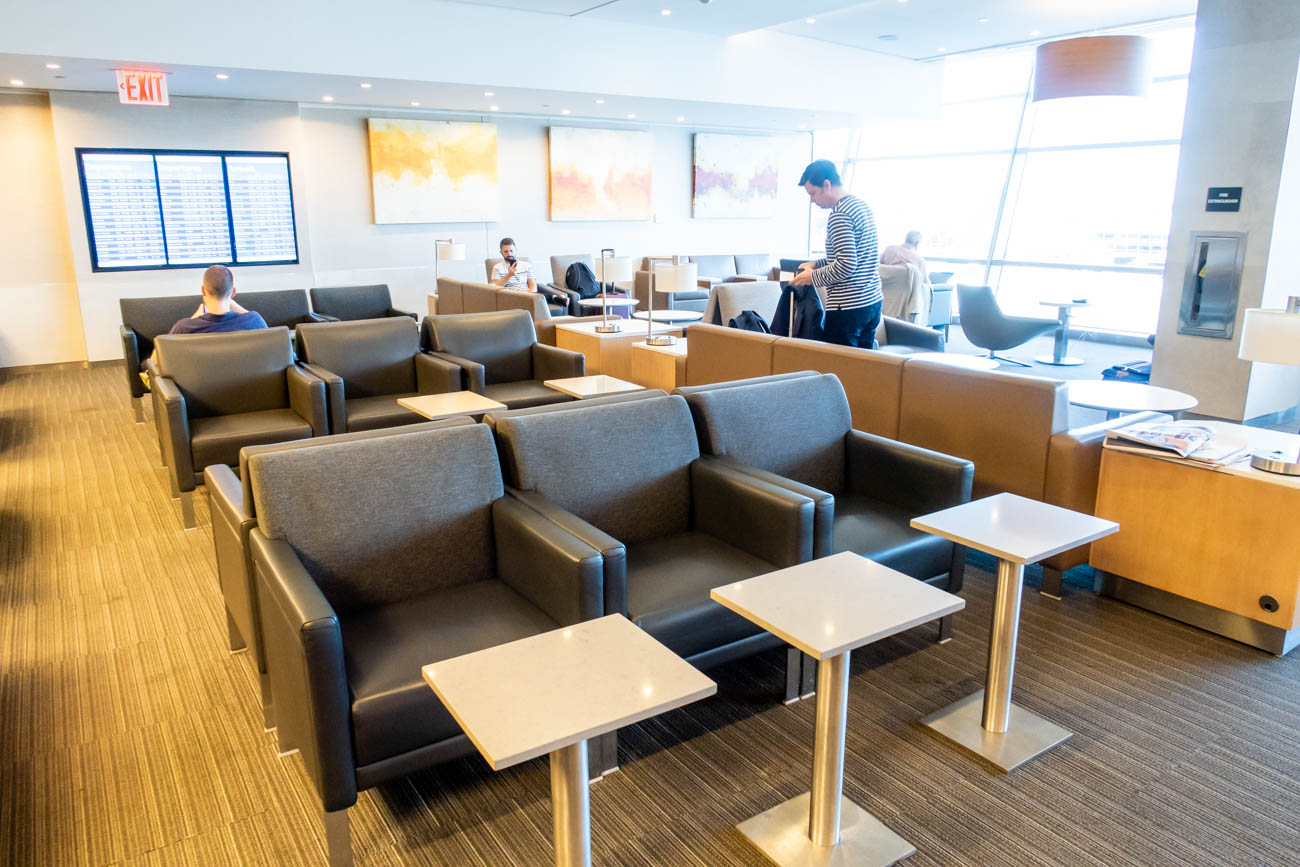 Sofa Chairs in American Airlines Flagship Lounge at JFK