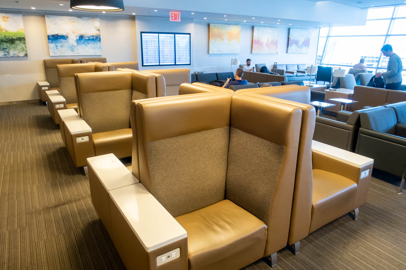 Seating in American Airlines Flagship Lounge at JFK