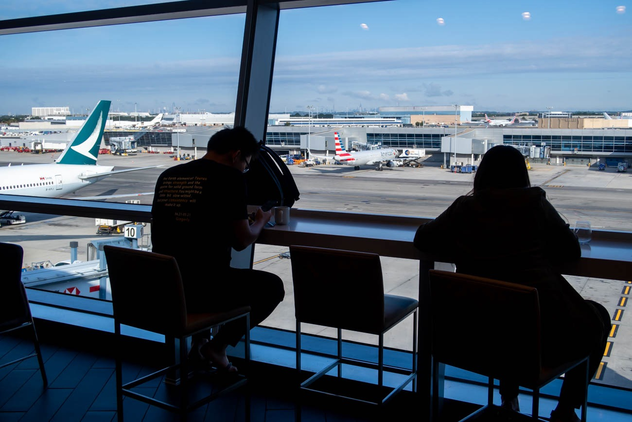 Window Views in American Airlines Flagship Lounge at JFK