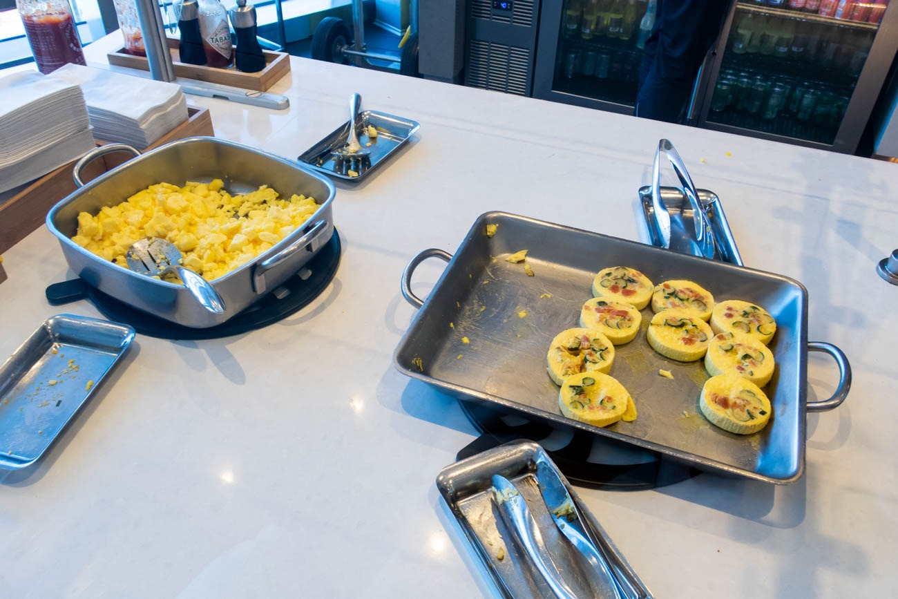 Eggs in American Airlines Flagship Lounge at JFK