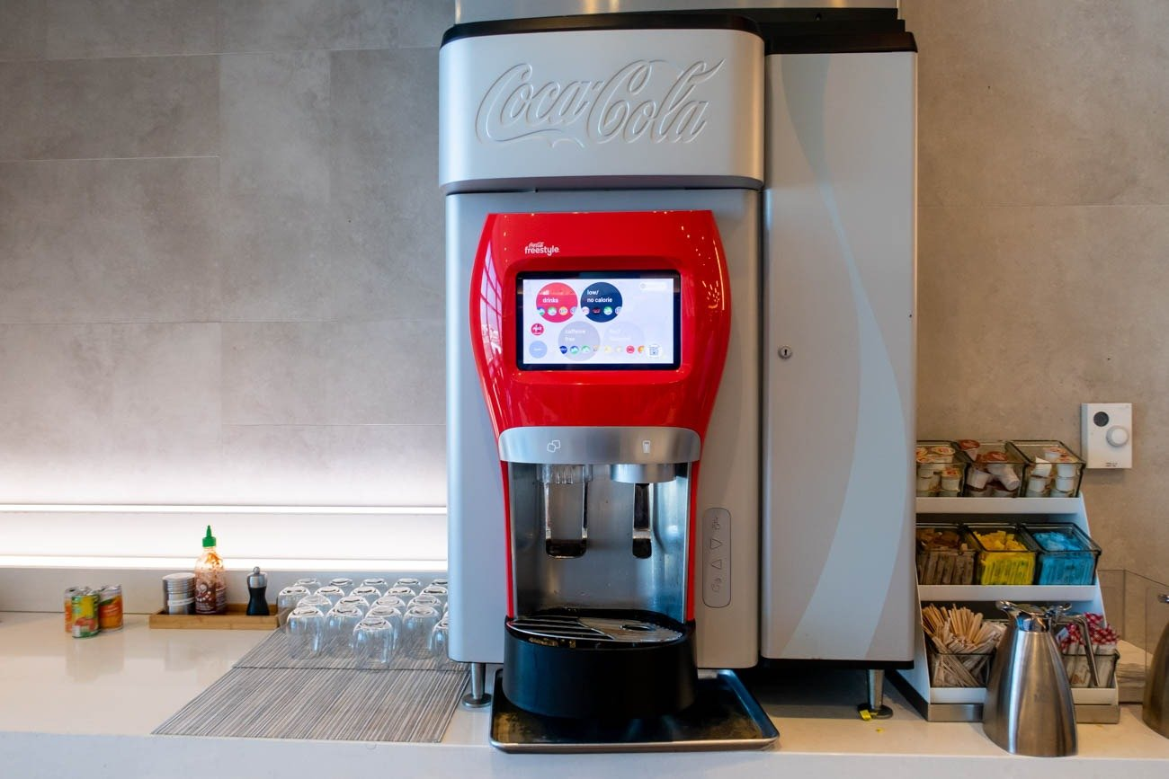 Coca-Cola Freestyle Dispenser in American Airlines Flagship Loun